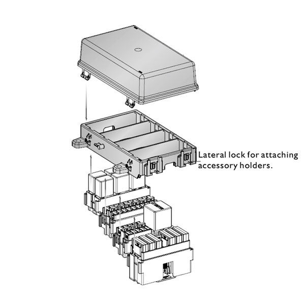 Four Module Frame & Cover | Lateral Lock for Additional Modules | PDMH0104FC | Price inc GST: