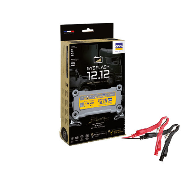 Battery Charger GYSFLASH 12.12 | 12 Volt 12 Amp | Suit 1.2 - 250 Ah Batteries | Trade Price inc GST: