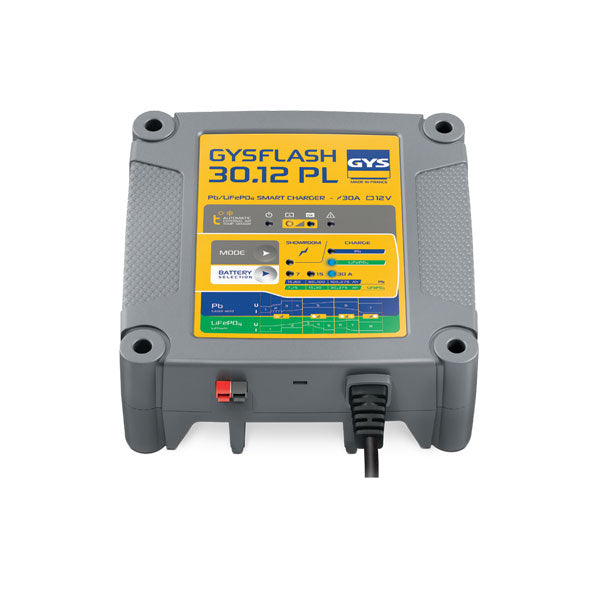 Lead-Acid / Lithium Battery Support Unit & Charger | GYSFLASH 30-12PL | 12V 30A | Trade Price inc GST: