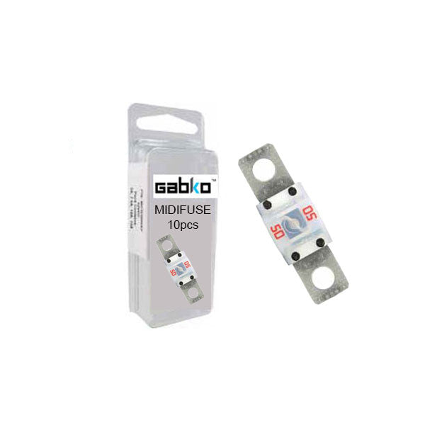 MIDI Fuse 10pcs Assorted | Slow Blow/Acting | BFK0100MIDI | Price inc GST: