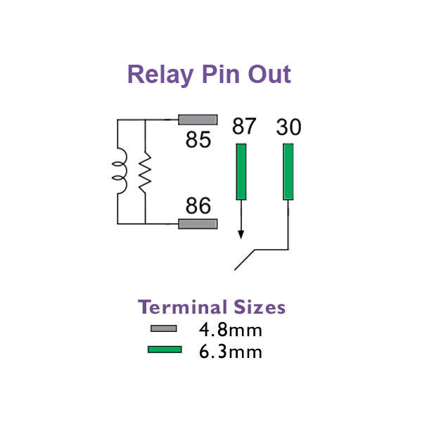 Micro Relay 12 Volt 35 Amp N/O 4 Pin | 1235-N0-AR1 | Price Inc GST: