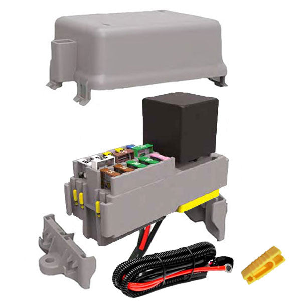 Pre wired relay & fuse module kit 12 volt