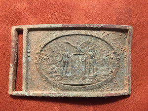 Maryland Militia Sword Belt Plate Found in Westminster, Maryland Metal Detecting