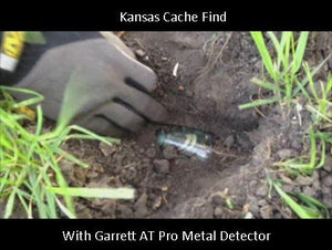 Finding a Jar of Coins With Garrett AT Pro Metal Detector in Kansas