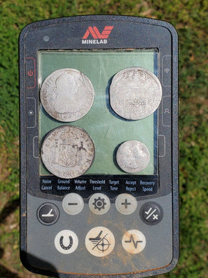 4 Spanish Coins Found Within 30 Minutes Metal Detecting in North Carolina