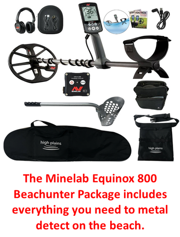 equinox 800 metal detecting beach hunter package
