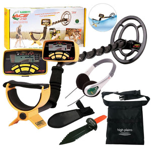 GARRETT ACE 250 Metal Detector with Waterproof Searchcoil, Garrett TreasureSound Headphones and Extra FREE Gear