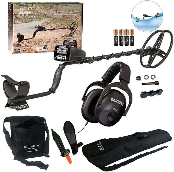 Garrett AT Pro Water Proof Metal Detector Treasure Seeker Bundle
