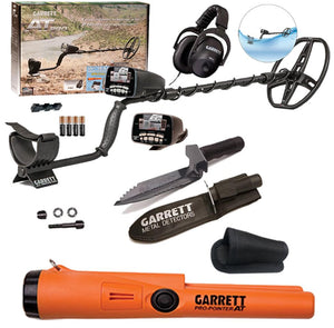 Garrett AT Pro Water Proof Metal Detector Spring Special with Pro Pointer AT & Garrett Edge Digger