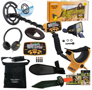 Garrett Ace 300 Metal Detector with Waterproof Search Coil Discovery Bundle
