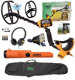 Garrett ACE 400 Metal Detector Bundle with DD Waterproof Search Coil Garrett Gear