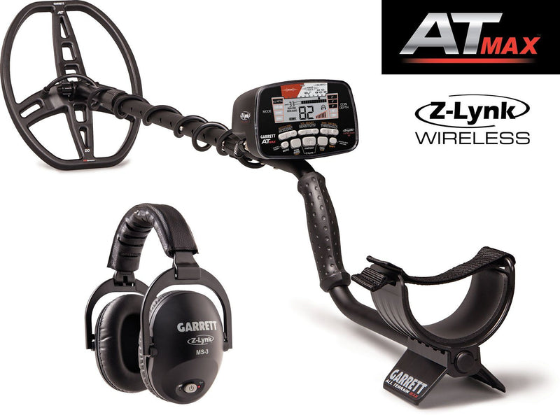 Garrett AT MAX Metal Detector with Z-Lynk Wireless Technology