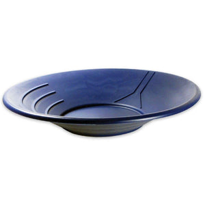 "14"" Gold Pan Depth: 2 5/8"" (choice of Black, Blue or Green) Gold Prospecting Jobe Blue"