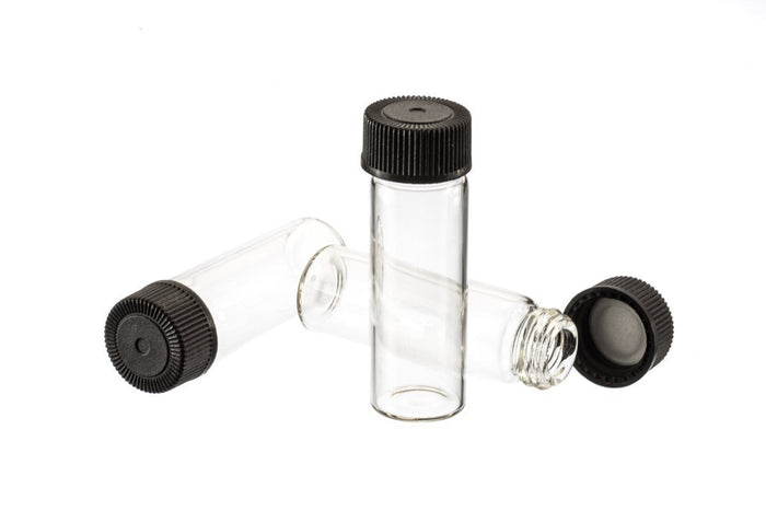 "144 pc Display-4ml Glass Vials (1-3/4"", Outer Diameter; 9/16"")"