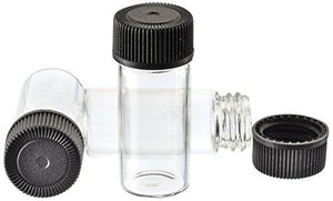 "144 Pc. Display - 4ml Glass Vials (1-3/8"", Outer Diameter; 9/16"") High Plains Prospectors"