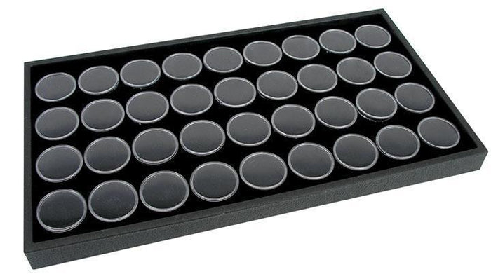 14 x 8 DISPLAY TRAY WITH 36 GEM JARS