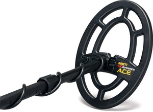 Garrett Ace 300 Metal Detector with Waterproof Search Coil Plus New All Purpose Carry/Travel Bag and Free Accessories