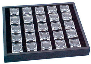 25 One Inch Mag Boxes with Stack Tray