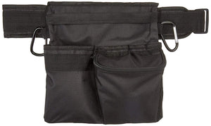 "3 Pocket Prospectors Utility Belt & Pouch w/two 3"" Carabiner, 600 Denier Nylon Material Bags and Backpacks Detector Pro"