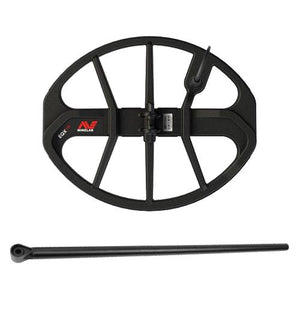 Minelab Equinox 15 x 12 inch Double-D Smart Coil w FREE Lower Shaft