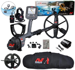 "Minelab CTX 3030 Waterproof Metal Detector with 6"" Coil and Bag"