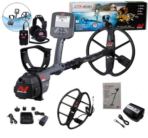 "Minelab CTX 3030 Waterproof Metal Detector and 17"" Coil"