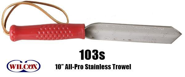 "10"" All-Pro Stainless Trowel."