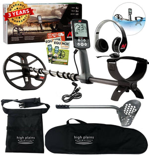 Minelab EQUINOX 600 Metal Detector, Beach Hunter Package