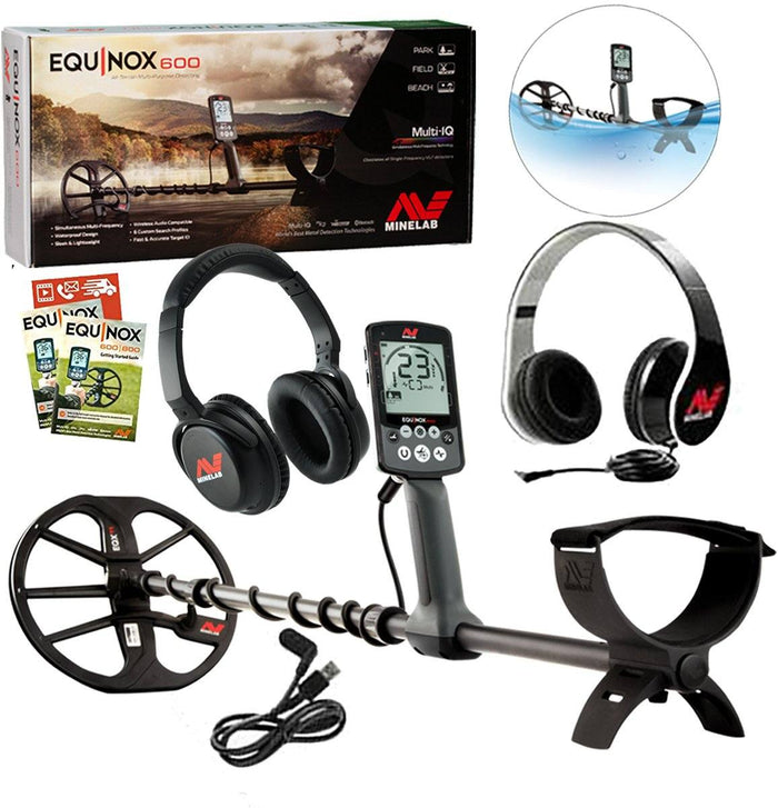 Minelab EQUINOX 600 Holiday Special, Free Bluetooth Wireless Headphones
