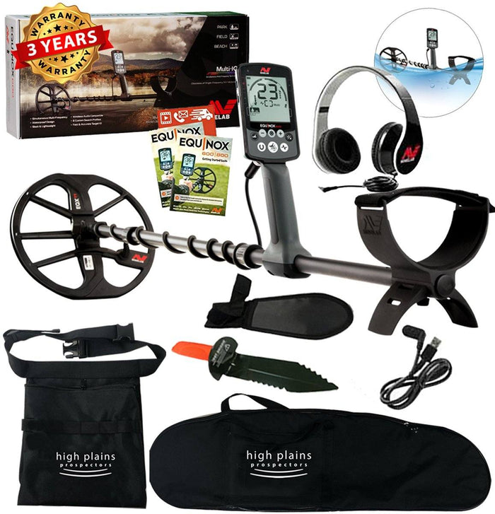 Minelab EQUINOX 600 Metal Detector with Free Gear