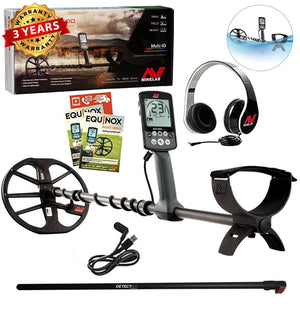 Minelab EQUINOX 600 Metal Detector, FREE Black Upper Carbon Rod