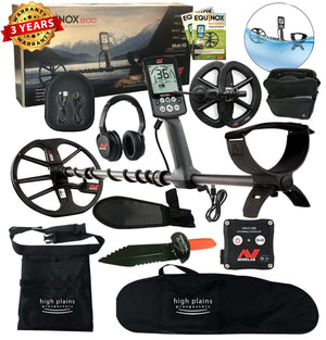 "Minelab EQUINOX 800 Metal Detector, 6"" Smart Coil, Headphones, Free Gear"