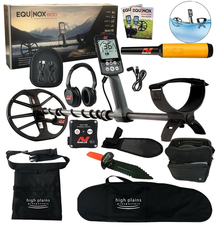 Equinox 800 Metal Detector Bundle, Pro-Find 35 Pointer, Free Gear