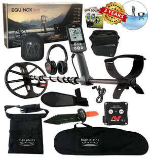 Minelab Equinox 800 Metal Detector, Free High Plains Gear