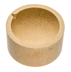 3-Inch Alumina Ceramic Pot Rounded with Flat Bottom