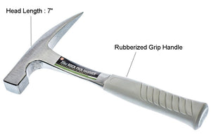 "11"" Rock Pick Hammer, Rubberized Handle, with Plastic Tip Cover, Overall weight : 32oz, Head Weight : 20oz"