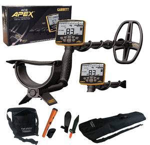 Garrett ACE APEX Metal Detector - with FREE GP Pointer and Free Gear