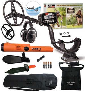 Garrett AT Max Waterproof Metal Detector, MS-3 Wireless Headphones and Pro-Pointer AT Z-Lynk Pinpointer Bundle