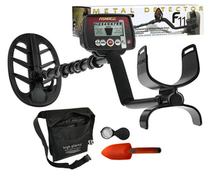 "Fisher F11 Metal Detector with 11"" DD Coil with Free Gear"