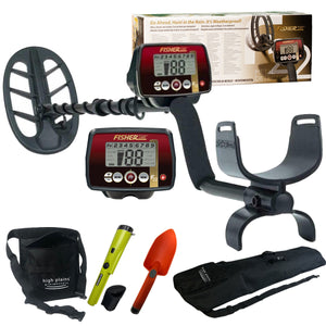 "Fisher F22 Metal Detector With 11"" DD Coil Trailblazer Bundle"