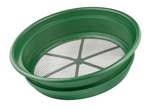 "Sifting Pan / Classifier - 9 Mesh Size Options - 13 1/4"" Diameter"