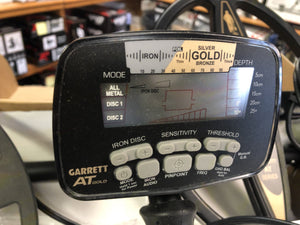 Slightly Used Garrett AT Gold Waterproof Metal Detector with Extra Coil