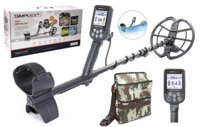 "Nokta Makro Simplex Plus Waterproof Metal detector with 11"" DD Coil and Finds Pouch"