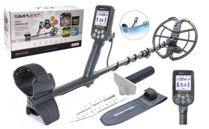 "Nokta Makro Simplex Plus Waterproof Metal detector with 11"" DD Coil and Premium Digger"