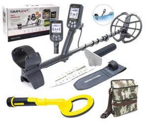 Nokta Makro Simplex Plus Waterproof Metal detector, PulseDive 2-in-1 Pin-Pointer, Finds Pouch, and Premium Digger
