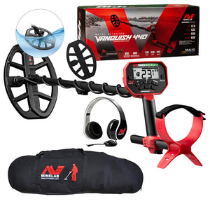 Minelab Vanquish 440 Metal Detector with Minelab Carry Bag