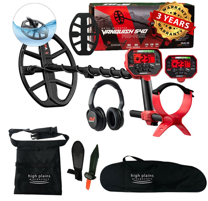 Minelab  Vanquish 540 Pro-Pack Metal Detector Treasure-Seeker Bundle