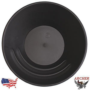 Archer 10 inch Gold Pan Gold Prospecting Jobe Black