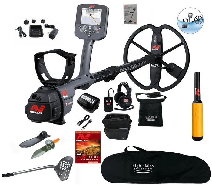 Minelab CTX 3030 Waterproof Metal Detector with Pro Find 35, and FREE High Plains Gear
