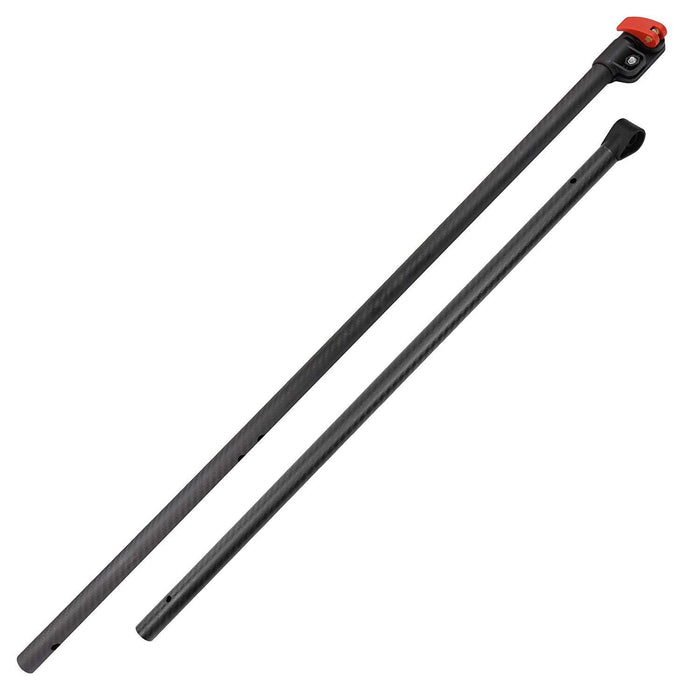 Detect-Ed Black LS Carbon Fiber Shaft for Minelab Equinox Metal Detector - Upper and Lower